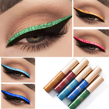 цена на New 10-color colors shine eyeliner eyeshadow for easy use waterproof liquid eyeliner makeup shine eyeshadow eyeliner