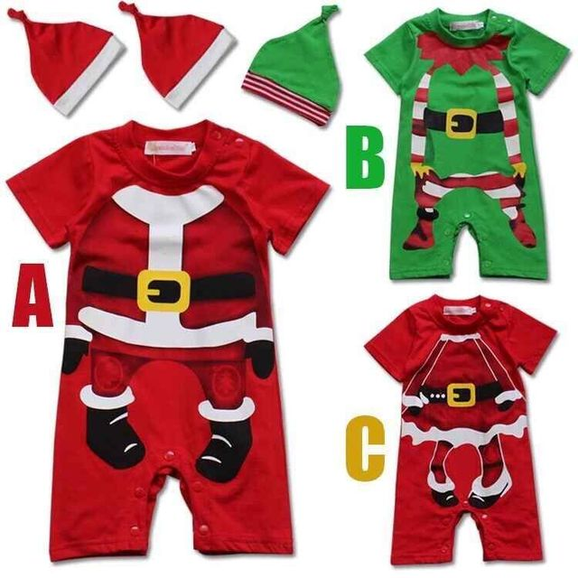 2016 New Year Christmas Clothes 2pc Kids Clothes Christmas Clothing