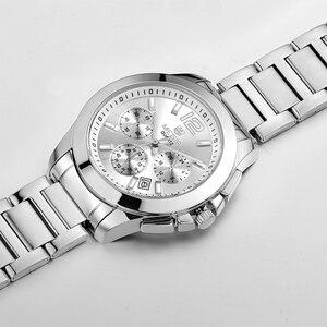 Image 5 - MEGIR מקורי גברים שעון נירוסטה עסקים קוורץ שעונים לוח שנה שעון יד שעון גברים Relogio Masculino