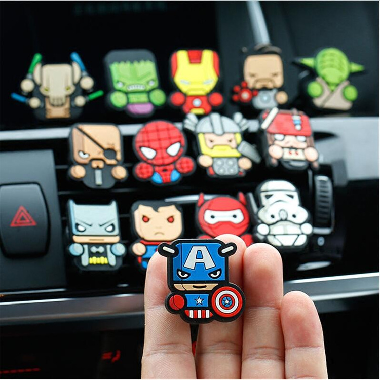 marvel-font-b-avengers-b-font-figures-superman-batman-air-freshener-with-clip-car-styling-perfume-condition-vent-outlet-action-figures-for-gif