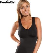 FeelinGirl Women Hot Seamless Vest Ladies Body Shaper Tank Top Slimming Shapewear Body Slimmer Tummy Trimmer CamiShaper -E