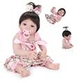 22 recém-nascidos ''realistic lifelike boneca artesanal boneca reborn baby girl fashion silicone novo presente com roupas de corpo inteiro do vinil