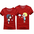 Summer New Cartoon T-Shirt Couple Clothes Women Men Cotton Short Sleeve T Shirt Casual Cute Sweet Couple T-Shirts For Lovers