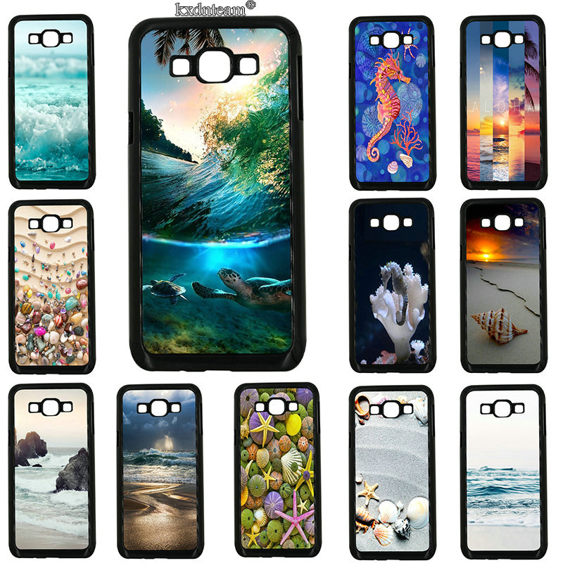 Colorful Seashell Tropical Island Hard Phone Cases Cover for Samsung Galaxy J1 J2 J3 J5 J7 on5 on7 on8 2016 2017 Prime J530 J730