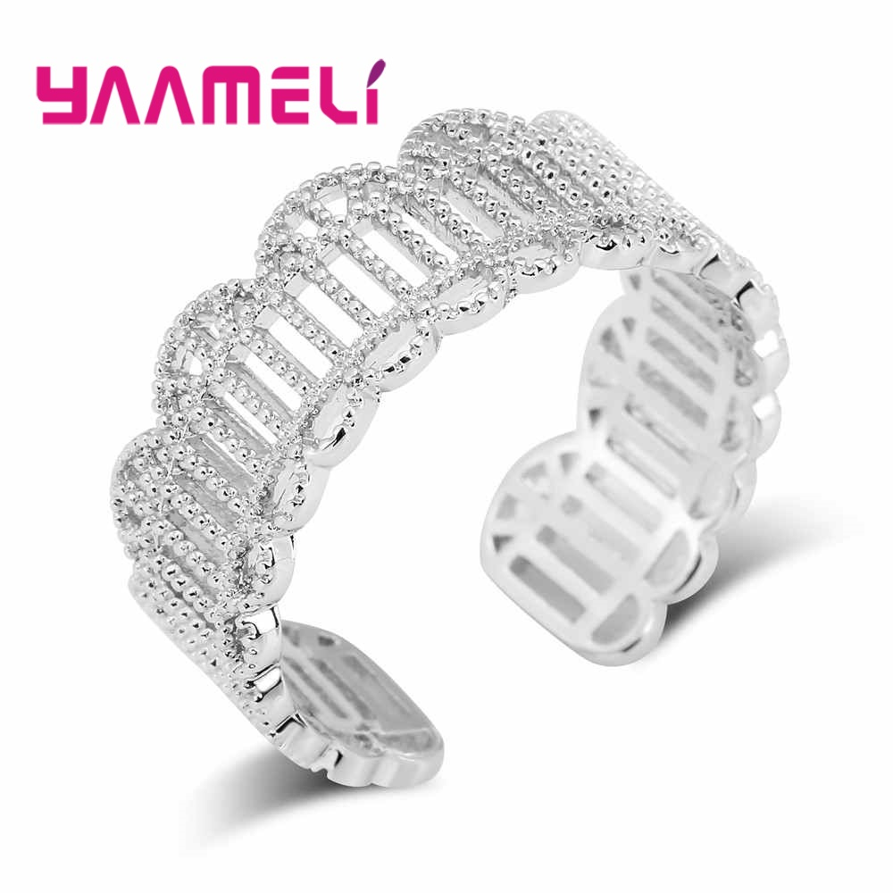 YAAMELI Retro Stylish Bands Rings for Women Men Party Gift Jewellery 925 Sterling Silver ...