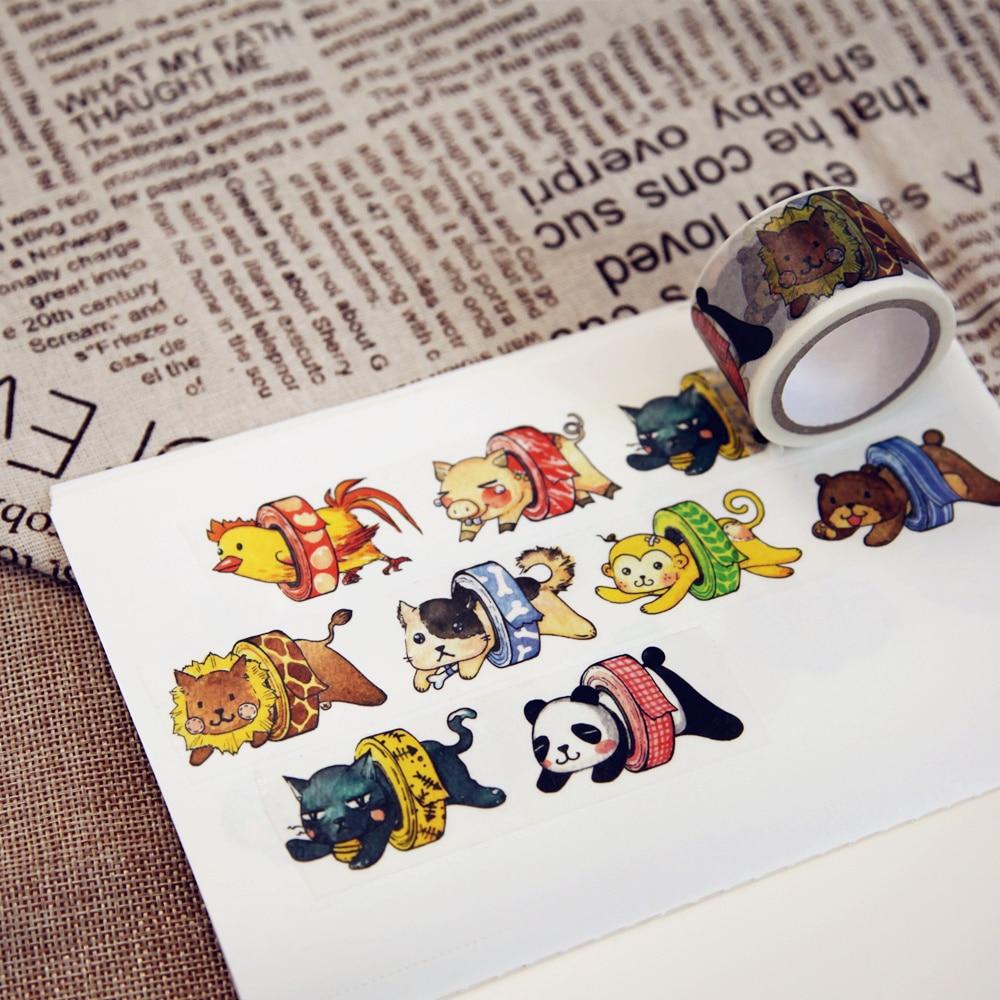 1 Pcs/lot DIY Cartoon Paper Washi Masking Tapes A Lot Of Fat Decorative Adhesive Tape Stickers/School Supplies 28mm*6M