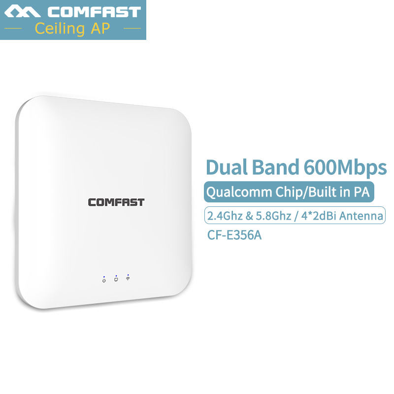 600Mbps Ceiling AP Router Wireless Wifi Router Hotspot Wifi Extender Dual Band 2.4G & 5G Access Point WIFI Repeater 48V Poe 2pcs 1750m gigabit ac wifi router 2 4ghz 5g dual band wifi repeater access point ap router cf e380ac wireless ceiling ap openwrt
