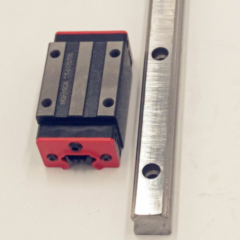 CNC Set 15-1100mm 2x Linear Guideway Rail 4x Square type carriage bearing block toothed belt drive motorized stepper motor precision guide rail manufacturer guideway