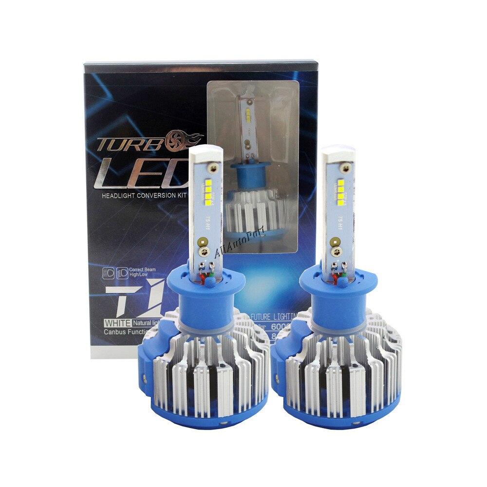 70W H1 Led Turbo Car Headlight Korean chips 7200LM Canbus Conversion Kit Driving Lamp Bulb Car External Lights H1 Fog Head Light