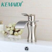 KEMAIDI Modern Bathroom Faucet Nickel Brushed Bathroom Basin Sink Mixer Wash Basin Mixer Sinks Single Handle Deck Mounted Tap
