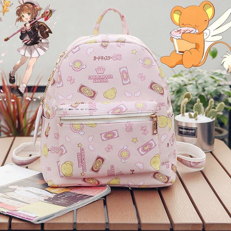 Anime carte Captor Sakura sac à dos Cosplay accessoires magique carte fille Sakura école sacs à dos sac filles cadeaux d'anniversaire