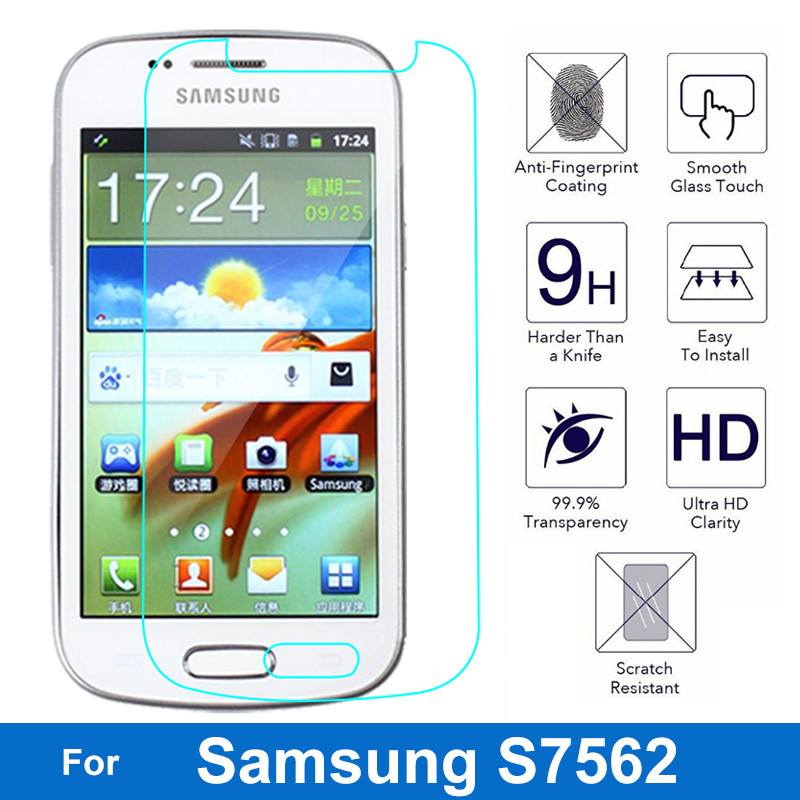 9H Anti-Explosion Tempered Glass ufor Samsung Galaxy S Duos Trend Plus S7580 S7582 Duos S7560 S7562 Screen Protector Films