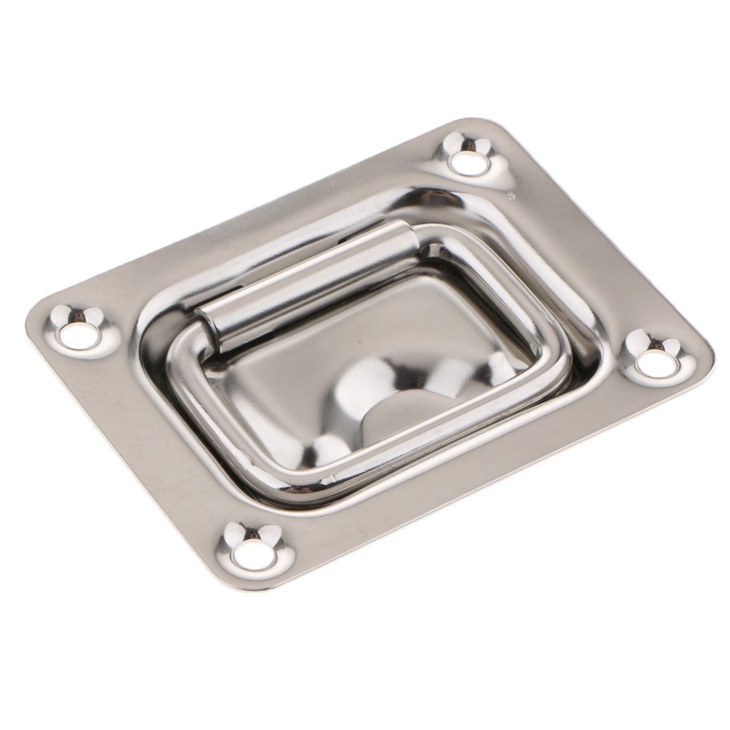 Marine Boat Recessed Hatch Pull Handle Marine Locker Flush Lift Ring 304 Stainless Steel Size 76 X 57mm