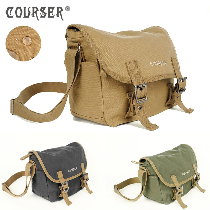 COURSERR Canvas Camera Photo Bag Waterproof Shoulder Bag DSLR Camera Shoulder Messenger Bag+Paitition Padded for Outdoor Travel ozuko brand dslr camera bag fashion chest pack slr camera video photo digital single shoulder bag waterproof school travel bags
