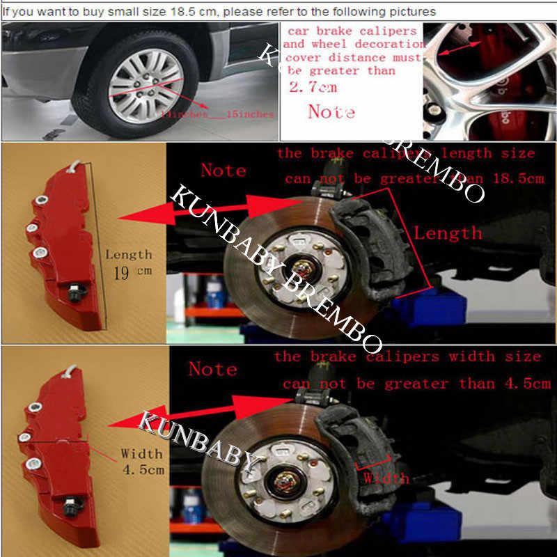 KUNBABY プラスチックブレーキキャモデル 3 とクロームシルバー Amg ロゴ車のスタイリングの装飾メルセデスベンツ送料無料