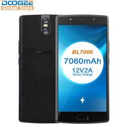 DOOGEE BL7000 7060 мАч Android 7,0 12V2A Quick Charge 5,5 ''FHD mtk6750t восемь ядер 4 ГБ Оперативная память 64 ГБ Встроенная память мобильного телефона двойной 13.0MP