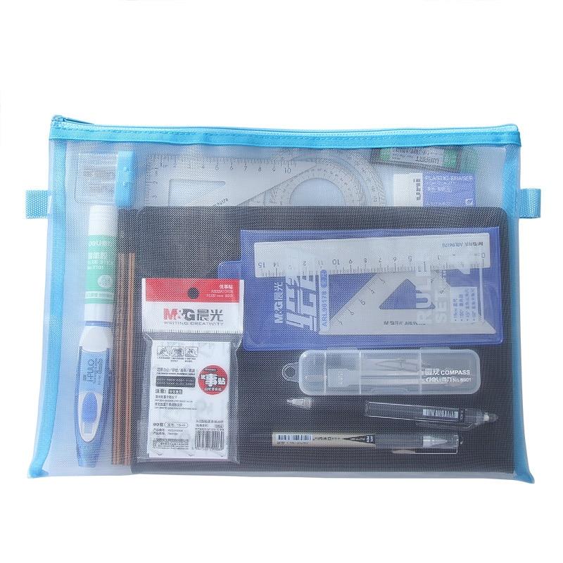 A5 A4 Document Bag Simple Transparent Mesh A5 24 18 cm A4 34 24 cm Office School Filing Supplies Joy Corner in File Folder from Office School Supplies