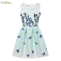 Fall Summer Girls Dress Butterfly Floral Print Princess Dresses For Baby Girls Designer Formal Party Dress