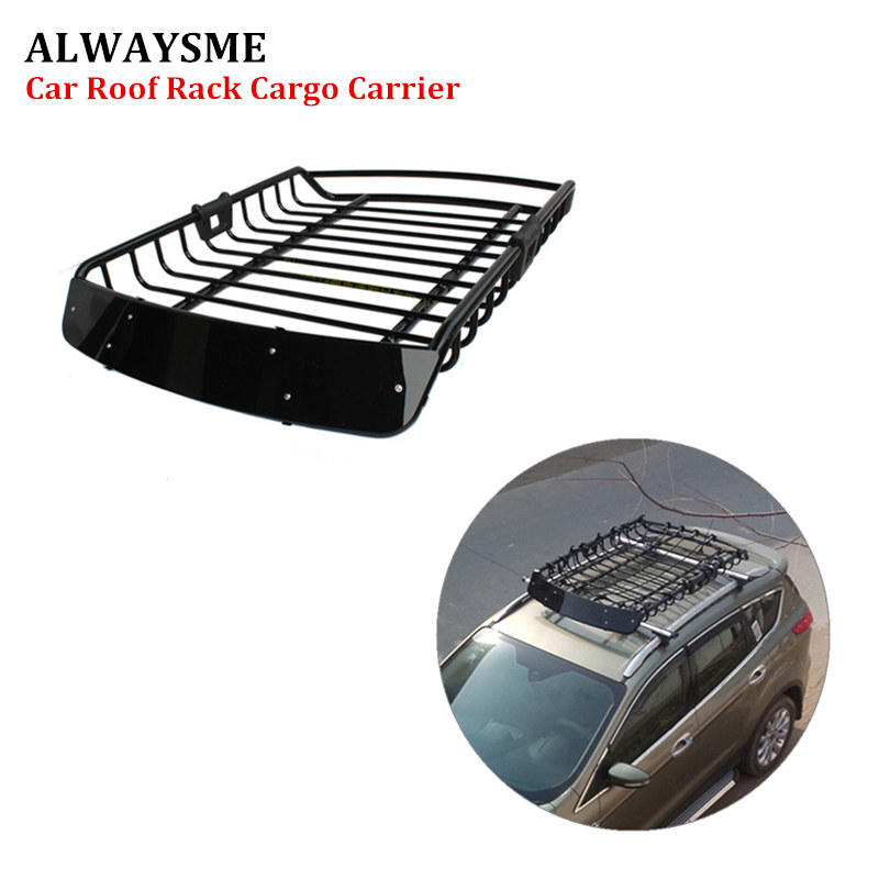 ALWAYSME 120X98X16 5CM Universal Roof Rack Basket Heavy Duty Steel Car Top Cargo Luggage Holder Carrier
