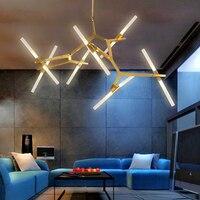 Oświetlenie Kreatywny postmodernistyczna minimalistyczny żyrandol Nordic Bawialnia oprawy wiszące światła lampy Pokojowe Restauracja żyrandole