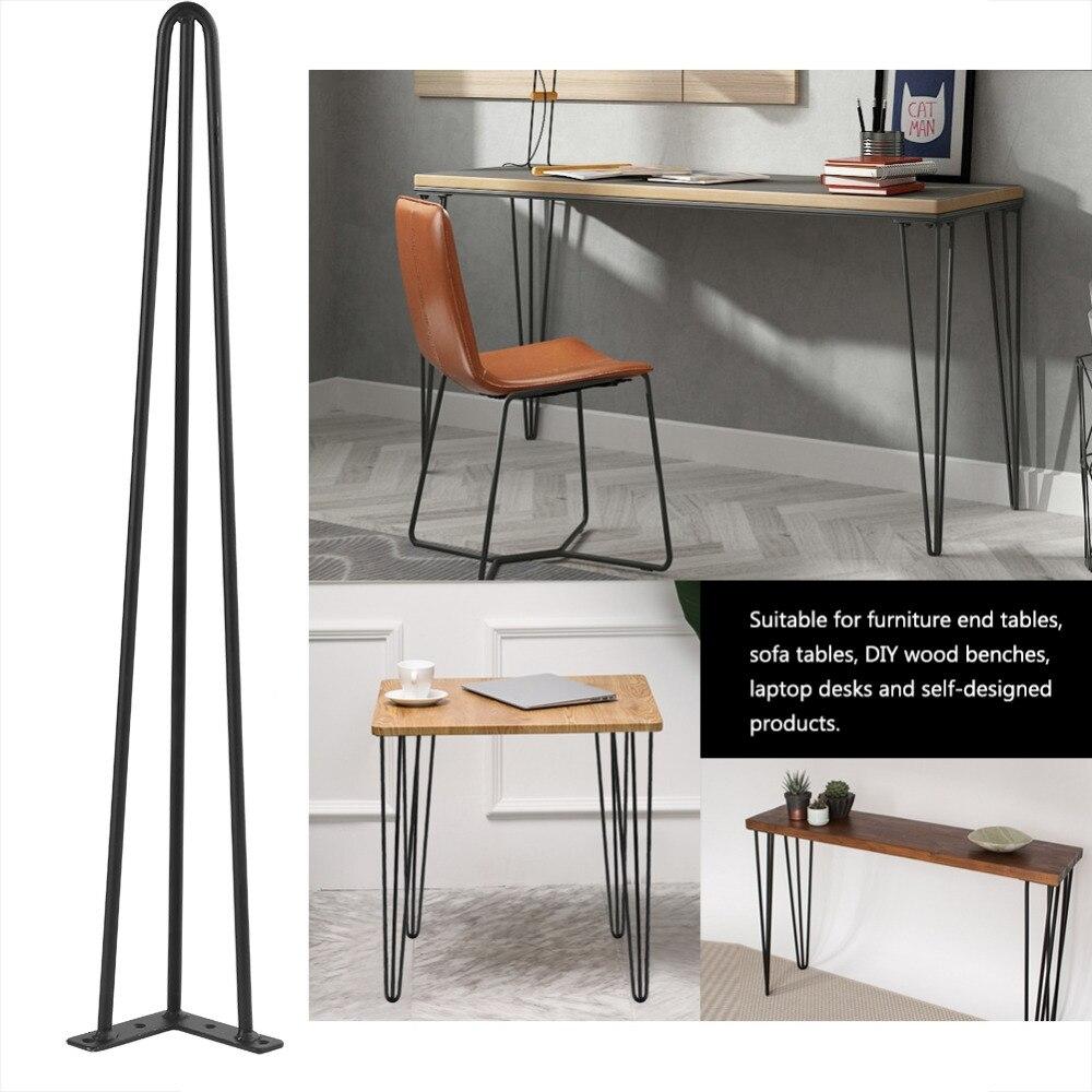 4pcs 28 30inch Jambes De Meuble Hairpin Metal Furniture Table Legs