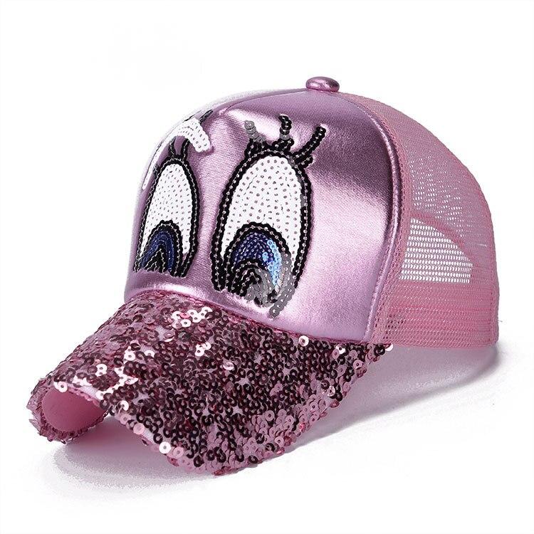 9b8fa61f548 YIGA 2017 New glitter eyes Summer baseball cap cool snapback hats net cap  casquette Sequin Baseball Hats Mesh Caps wholesale-in Baseball Caps from  Apparel ...