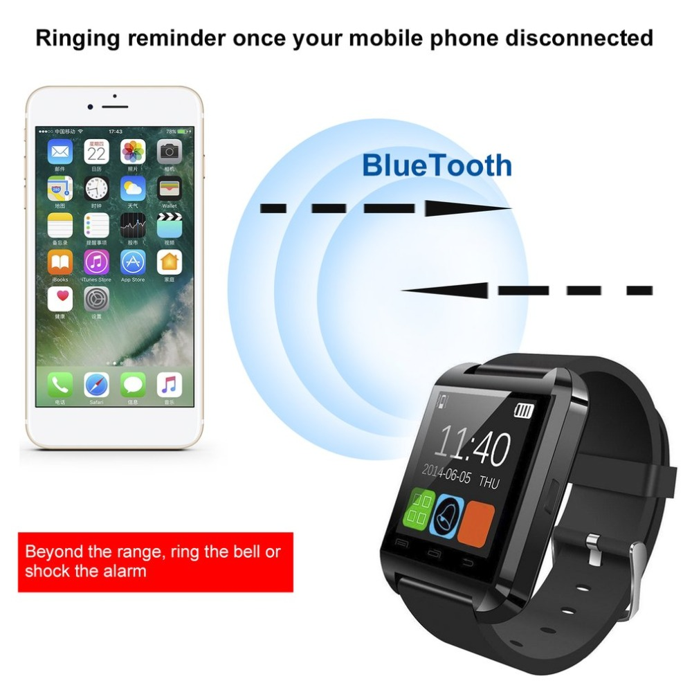 Multifunctional Bluetooth V3.0 Men's Watch EDR Smart Watch With Phone Camera Card Smart Clock For Apple Xiaomi Hauwei P
