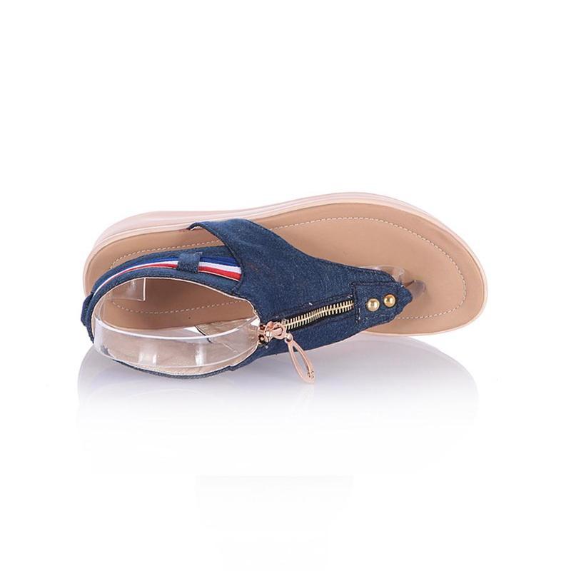 Wedges Shoes For Women High Heel Summer Ladies Gladiator Sandals Woman Platform Cowboy Zipper Sandalias Mujer 2018 hj98 16