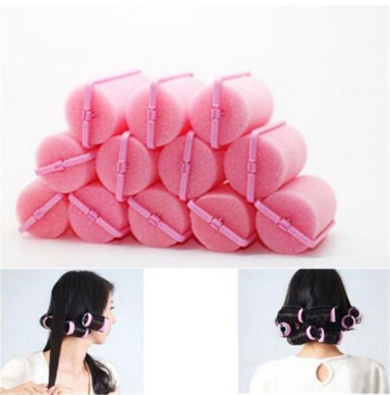 1Set/12pcs Lowest Profit! Magic Sponge Foam Hair Rollers Styling Curlers Cushion Salon Barber Tool Products + Free Shipping