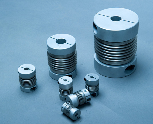 Bw c clamp hard alloy metal bellow flex coupling in shaft