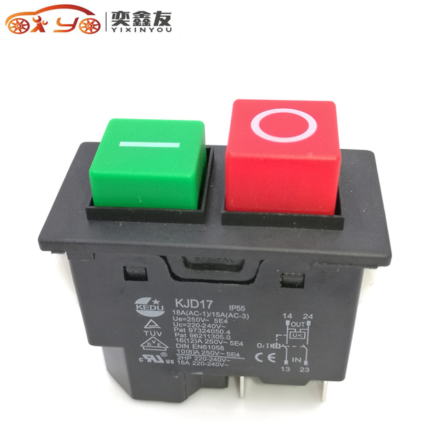 2pcs 4pin ip55 220 240v 16a electromagnetic push button safety 2pcs 4pin ip55 220 240v 16a electromagnetic push button safety switch for garden machine electronic publicscrutiny Gallery
