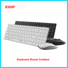 9300P four.9mm Extremely Slim Moveable Mute Wi-fi Keyboard and Mouse Combo 1600DPI ,Relevant to dwelling, workplace, pocket book Black/White