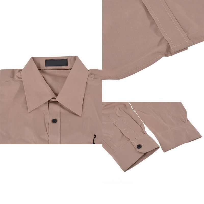 シュージンのメンズカジュアルドレスシャツ長袖ファッショナブルなフォーマルなシャツ男性のストリートシャツ子鹿刺繍シュージン