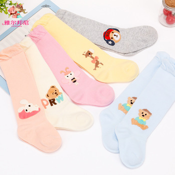 2018 New Real  Fille Pantyhose Newborn Toddler Knee High Sock Baby Socks Autumn Stockings Cotton Cartoon 0 - 1 Years Old