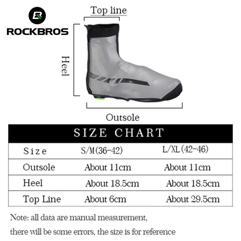 Image 5 - ROCKBROS Waterproof Winter Cycling Shoe Covers Reflective Thermal Elastic Durable Windproof Bike Rain Overshoes Sneaker Covers