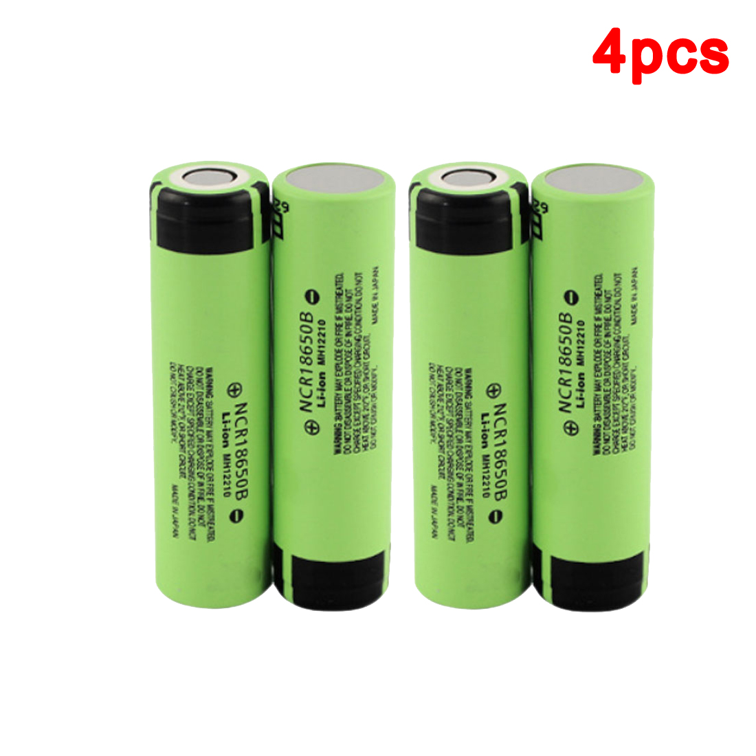 centechia 4PCS 3.7V NCR 18650B 3400mAh Rechargeable Batteries For Panasonic <font><b>18650</b></font> Battery/Power Bank/Portable Charger/Light image