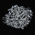 100PCS 5mm White Emitted Color Ultra-Bright LED Light Lamp Emitting Diodes 15000MCD E5M1