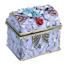 H D 1 5 Women Metal Vintage Music Box Shape Trinket Box Ring Jewelry Box Storage