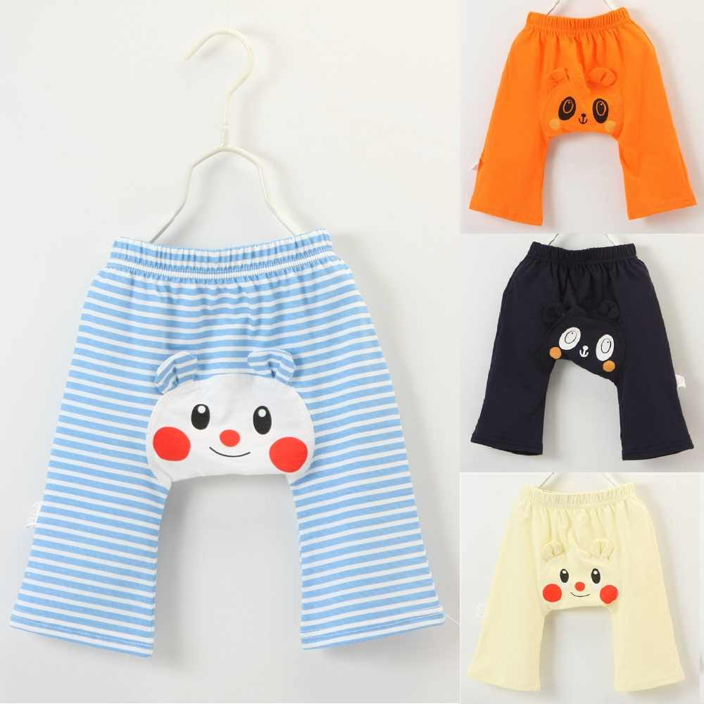 Cartoon Stripe Baby Boy Panties Solid Newborn PP Pants Baby Clothes Girls Leggings Children Trouser 100% Cotton Britches 0-3Year