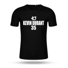 2017 Men Fashion KD T Shirt Short Sleeve Print Number 35 T-shirt Summer Modal Cotton Men Casual Top Tee Shirts Unisex Style