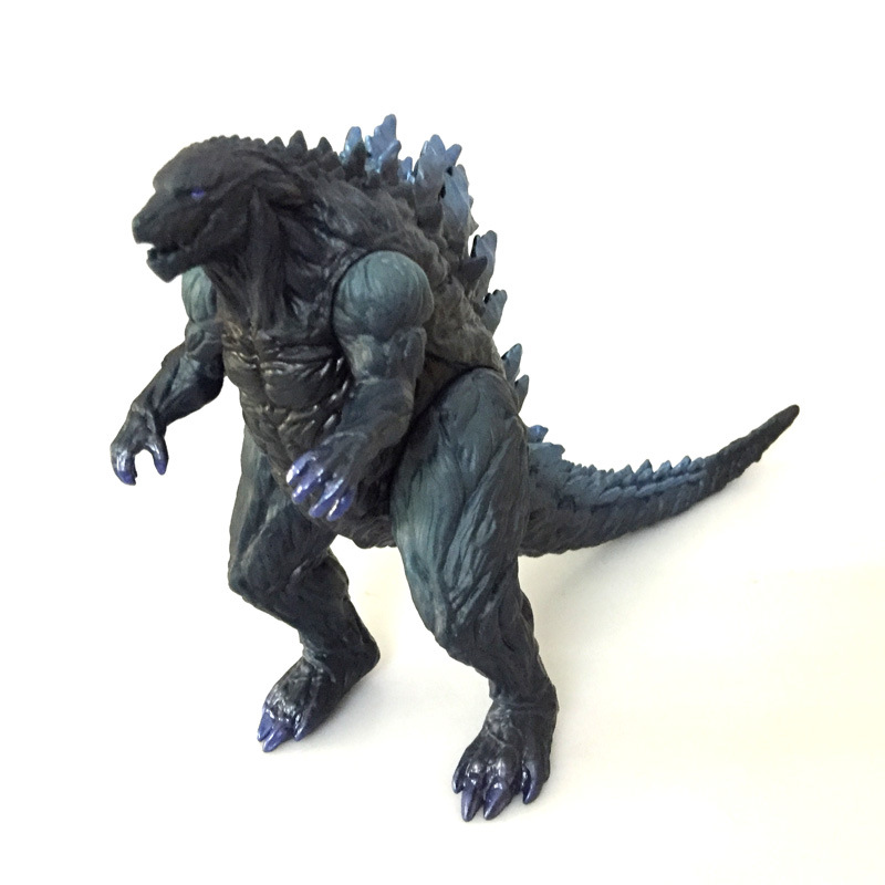 Godzilla dinosaur toy 17cm height pvc dragon head paw feet can turn Horrible monster model figures. 30cm pvc lifelike space godzilla monster dinosaur model toy ction figures boy toys cartoon collection toys kids birthday gift