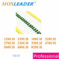 Mosleader 2000 Uds 1/2W 0410 120UH 150UH 180UH 220UH 270UH 330UH 390UH 470UH 560UH 680UH 820UH AL0410 DIP anillo de Color inductores