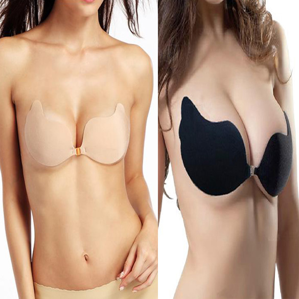 cf2316be42095 Hot Women Invisible Self Adhesive Reusable Bras Push Up Prom Wedding Strapless  Bra FS99-in Bras from Underwear   Sleepwears on Aliexpress.com