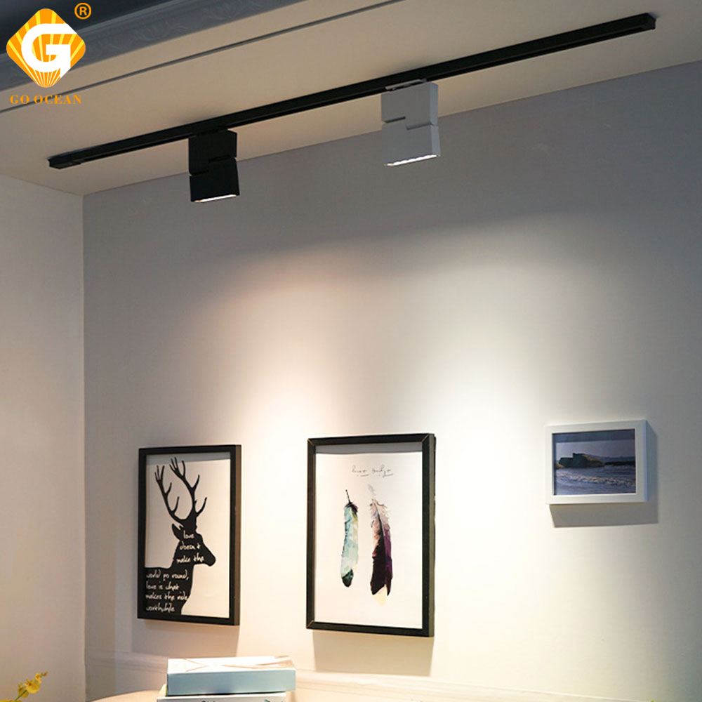 Modern LED Track Lights 12W Ceiling Rail Light Spotlight 2 Wire 3 Wire 4 Wire For Home Shoes Store Clothing Showrooms LightingModern LED Track Lights 12W Ceiling Rail Light Spotlight 2 Wire 3 Wire 4 Wire For Home Shoes Store Clothing Showrooms Lighting