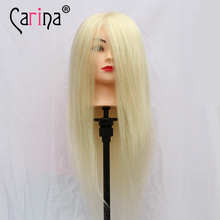 90% Real Hair Salon Doll Heads Hairdressing Cut Mannequin Head 22 Mannequins For Sale