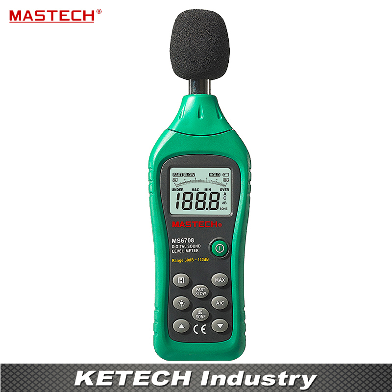 Digital Sound Level Meter With The Backlight Digital Display MASTECH MS6708 ammar nasir nasir mehmood sound level monitoring system with feedback