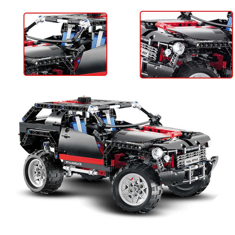 DECOOL 3341 Compatible Legoingly 8081 Technic Motor Extreme Cruiser SUV 589pcs Racing Car Model Building Block Christmas Toys