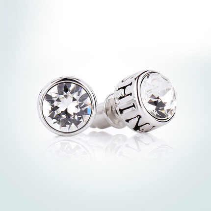 d41962e03 ... Warme Farben 925 Sterling Silver Men Earrings Fine Jewelry Unisex  Crystal From Swarovski Round Stud Earrings ...