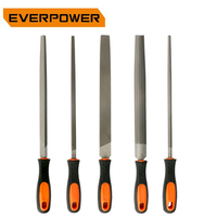 EVERPOWER Rasp 5pcs Metal File Sets Needle Files Set Steel Tools Wood Plastic Triangular Rectangular Semicircular Cylindrical