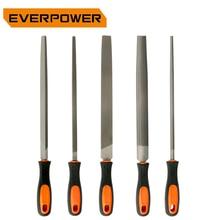 EVERPOWER Rasp 5pcs Metal File Sets Needle Files Set Steel Woodworking Cut Tools Triangular Rectangular Semicircular Cylindrical